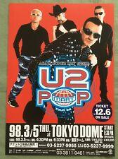 $0 ship! U2 Japan PROMO flyer MINI poster POP MART 1998 tour MORE listed BONO