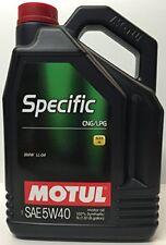 Motul aceite lubricante especifico Specific Cng/lpg 5w40 5L