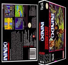Inindo Way of the Ninja - SNES Reproduction Art Case/Box No Game.