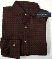 NWT $125 Polo Ralph Lauren Shirt Mens Large Red Maroon Button Down Cotton NEW