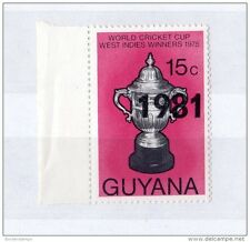 Guyana 1981 Cricket World Cup Winners Surcharge Issue SG811 MNH X608