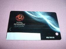 Caesars Entertainment Total Rewards Platinum Players Club Slot Card Las Vegas NV