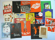 Collection 16 Vintage Broadway Musical Musical Theater Play Programs Playbills