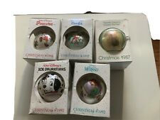 Set of 5 Schmid Walt Disney Characters Christmas Collector Ornaments 1987, 1992