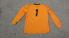 Goalkeeper Soccer JERSEY,ORANGE COLOR, NEW/TAG, free number 1,size ADULT large