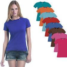 B&C Damen Kurzarm T-Shirt verschiedene Farben und Größen XS - XXL