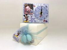 Bomboniera topolino personalizzata con foto biglietto tulle confetti