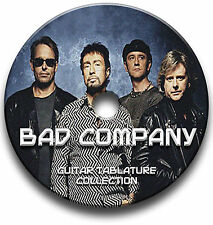 Bad COMPANY ROCK GUITAR Scheda tablature CANZONIERE software CD Antologia