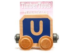 Timber Toots Name Trains Wooden Railway System Alphabet Preschool Toys Letter U