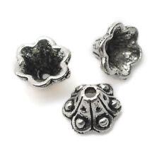 Lot 10 Coupelles / caps / Calottes 10mm Argentées perles breloques 10 mm Argente