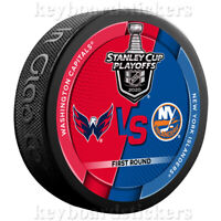 2020 NHL Stanley Cup Playoffs Dueling Hockey Puck Capitals vs New York Islanders
