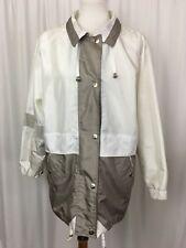 Braetan Womens Coat Jacket Raincoat Windbreaker Pockets Collar Snaps Size Small