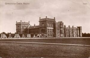 VINTAGE REAL PHOTO POSTCARD GRIMSTHORPE CASTLE BOURNE LINCOLNSHIRE UNPOSTED