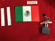 sound Activated DJ LED Flashing Light UP MEXICO MEXICAN FLAG SENSOR FOR T SHIRT