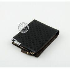 Men's Leather zipper Wallet Money Clip Card Holder Pocket Purse Black wallet