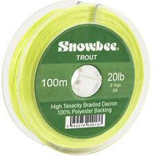 Snowbee Braided Dacron Backing Line - 20lb - 100m - Hi-Viz Yellow