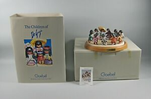 "DeGrazia LOS NINOS Goebel Figurine 9"" Retired Germany 2 Pc W/Box 4558 of 5000"