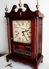Vintage Daneker Friedrich Mauthe Westminster chimes pillar clock work well.