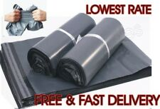 """100 BAGS 14"""" X 20"""" Mail Bags Courier Bags Parcel Bags Postage Bags Grey Poly"""