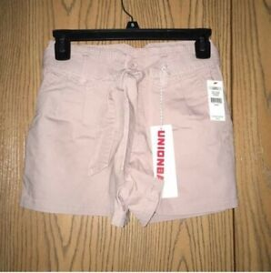 New With Tags UNIONBAY Sterling Self Belt Shorts Juniors Size 0