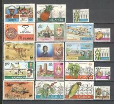T39 - UGANDA 1975/79 - LOTTO 18 DIFFERENTI - VEDI FOTO