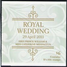 2011 ROYAL WEDDING AUSTRALIAN STAMP BOOKLET CAPTURING THE MOMENT 10 x 60c STAMPS