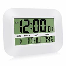 HeQiao Silent Desk Clocks Digital Wall Clock Simple Large Lcd Assorted Colors