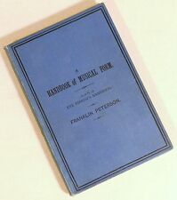 1951 Vintage Pianist's Handbook Musical Form Franklin Peterson Music Theory Book