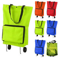 Collapsible Trolley Shopping Bag Travel Shopping Tug Cart Foldable Shoulder Bags