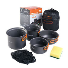 Naturehike 3 Persons Camping Pot Set Outdoor Cookware Picnic Pot Pan NH15T401-G