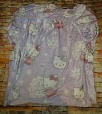 Hello Kitty Sanrio Twin Size Fitted Bottom Sheet Velour Feel Lavender Purple