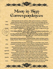 Moon Sign Correspondences, Book of Shadows Pages, Wicca, Witchcraft