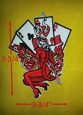 4 Aces Devil women 3.3/4'' Patch, FREE SHIPPING.