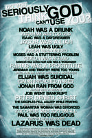 Do You Seriously Think God Cant Use You Religious Poster 12x18 inch