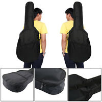"41"" Black  Full Size Acoustic Classical Guitar Bag Case Cover High Quality UK"