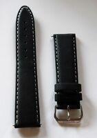 Neu Elysee Uhrenband Uhrenarmband Leder schwarz 22mm Dornschließe E83