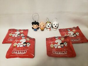 Hallmark Peanuts Mystery Ornaments Lucy Charlie Brown Snoopy Lot Of 4