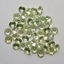 Lot of 25 Round Cut 6 MM Light Peridot Color Lab Spinel Loose Gemstone CLOSEOUT