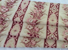 Antique French floral fabric printed cotton upholstery pollow home decor pinks