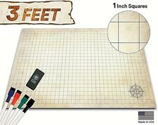 """Dungeons and Dragons Battle Grid D&D Game Mat 24"""" x 36"""" DnD Table Top Map"""