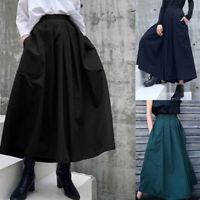 Vintage Women High Waist Causal Long Pants Baggy Wide Legs Oversize Harem Pants