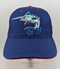 BLUE MARLIN Fishing Strap back Dad Cap Hat Embroidered Big Game Fish baseball