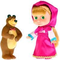 Masha Doll with Bear - Talking in Russian Masha from Cartoon Masha and the Bear