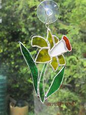 Handmade Stained Glass Flower, Daffodil Suncatcher #1