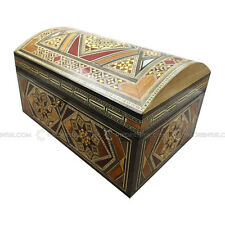 Handmade MiddleEastern Syrian Inlaid Mosaic Wooden Jewellery Gift Box 17x26x15