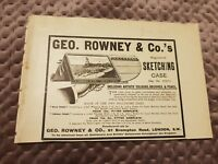 Geo Rowney & Co.s Sketching Case - 1906 Advertisement