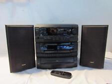 TEAC DC-D6300 AM/FM Tuner 3-CD Dual Cassette Shelf System w/ Turntable & Remote