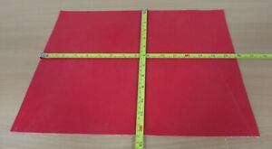 RED LEATHER VEG TAN  OFF CUTS 2 - 3mm THICK - ASST. SIZES/PRICES - CLEARANCE