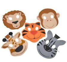 12 Foam Zoo Masks Great For Birthdays, School Plays