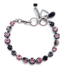 MARIANA Peppermint Swarovski Silver Bracelet Dainty Pink Black Mix Mosaic 143